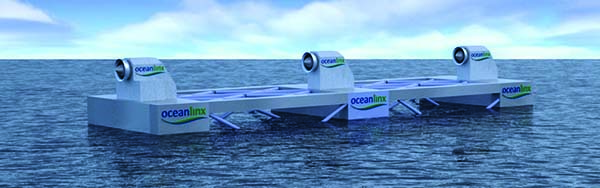 Oceanlinx's blueWAVE comprises six OWCs designed for deepwater applications.