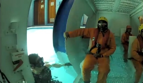 South Africa's CPUT Survival Centre helicopter escape training