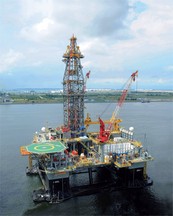 The ENSCO 8503 has drilled a new discovery for Tullow in French Guiana.