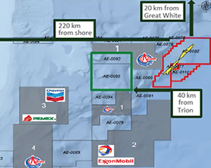 Trion Deepwater Oil Field Perdido Fold Belt Gulf Of Mexico Mexico