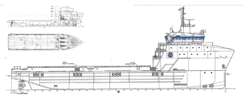 A rendering of a STX Marine SV310DF OSV, two of which will be equipped with the dual fuel systems.
